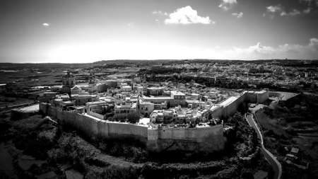 The famous medieval hilltop village of Medina in Malta