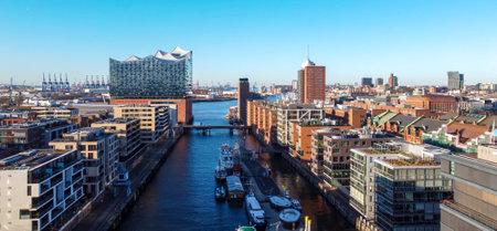 Famous Warehouse district in Hamburg Germany called Speicherstadt 版權商用圖片