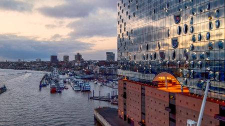 Famous Elbphilharmonie Concert Hall in Hamburg - CITY OF HAMBURG, GERMANY - DECEMBER 25, 2020