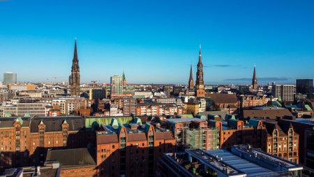 City of Hamburg Germany from above
