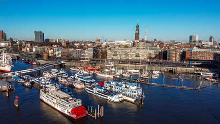 City of Hamburg from above - CITY OF HAMBURG, GERMANY - DECEMBER 25, 2020