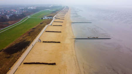 The Wadden Sea in Germany 版權商用圖片