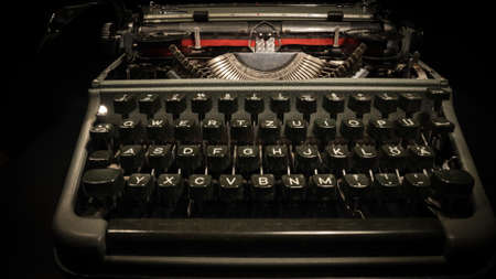An old typewriter in close-up