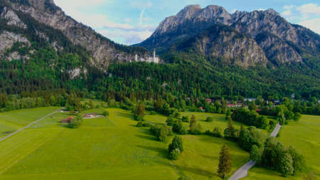 Wonderful Bavarian landscape in the German Alps - Allgau district Standard-Bild