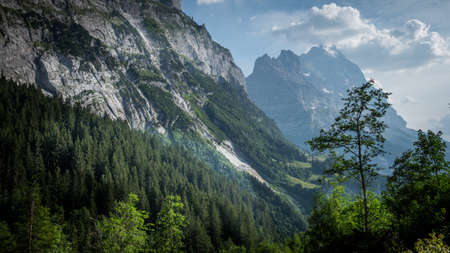 The mountains and glaiers of Grindelwald in the Swiss Alps - amazing Switzerland