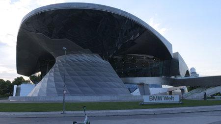 BMW World building at BMW headquarter Munich - MUNICH, GERMANY - JUNE 03, 2021 Editorial