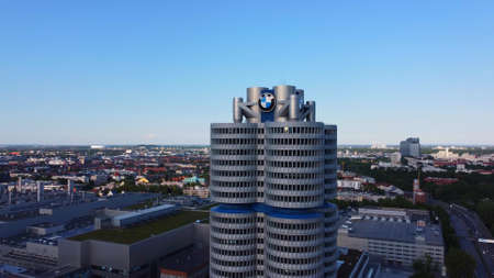 BMW Headquarter in Munich - aerial view