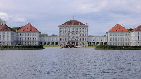 Famous Nymphenburg Castle in Munich - MUNICH, GERMANY - JUNE 03, 2021
