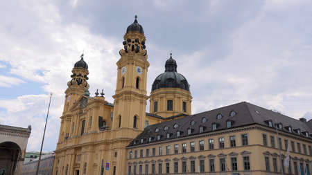 Theatiner Church in Munich - MUNICH, GERMANY - JUNE 03, 2021