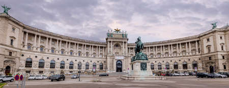 Habsburg residence at Vienna Hofburg Imperial Palace - most famous landmark in the city - VIENNA, AUSTRIA, EUROPE - AUGUST 1, 2021 Editorial