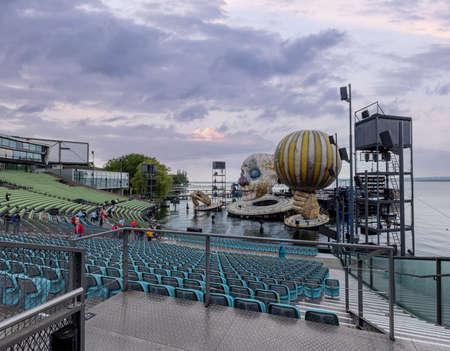 Bregenz Performing Arts Festival on Lake Constance - BREGENZ, AUSTRIA, EUROPE - JULY 28, 2021