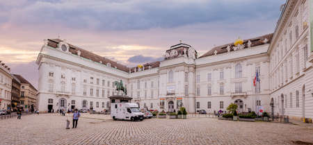 The Vienna Hofburg palace - most famous landmark in the city - VIENNA, AUSTRIA, EUROPE - AUGUST 1, 2021