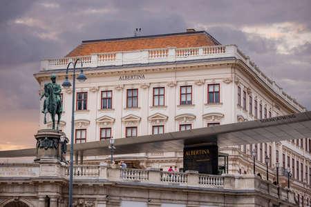 Albertina Museum in the city of Vienna - VIENNA, AUSTRIA, EUROPE - AUGUST 1, 2021 Editorial