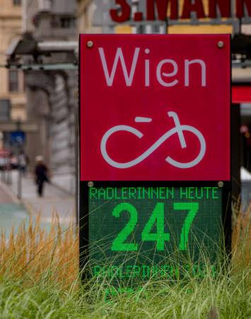 Bikers counter in the strees of Vienna - VIENNA, AUSTRIA, EUROPE - AUGUST 1, 2021