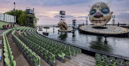 The floating stage on Lake Constance at Bregenz Performing Arts Festival - BREGENZ, AUSTRIA, EUROPE - JULY 28, 2021