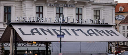 Famous Cafe Landtmann in the city of Vienna - VIENNA, AUSTRIA, EUROPE - AUGUST 1, 2021 Editorial