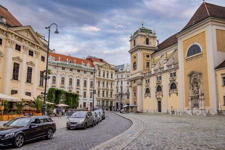 Street view in the old town of Vienna - VIENNA, AUSTRIA, EUROPE - AUGUST 1, 2021