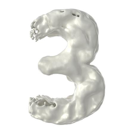 総: 白い背景の上 3 の白いミルクを数します。