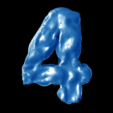number 4 blue milk on a black background