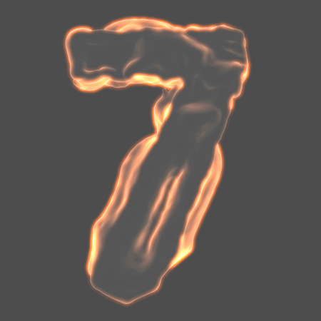 retardant: number 7 fiery border on a gray background