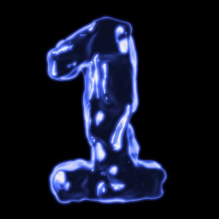 retardant: number 1 blue fiery border on a black background