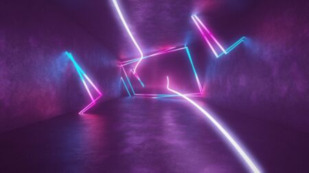 4k 3d render, looped animation tunnel, abstract seamless background, fluorescent ultraviolet light, glowing neon lines, moving forward inside endless tunnel, blue pink spectrum, modern colorful illumination. Ultra HD. 3840x2160