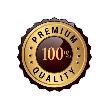 Premiumkwaliteit 100% labels. Stock Illustratie