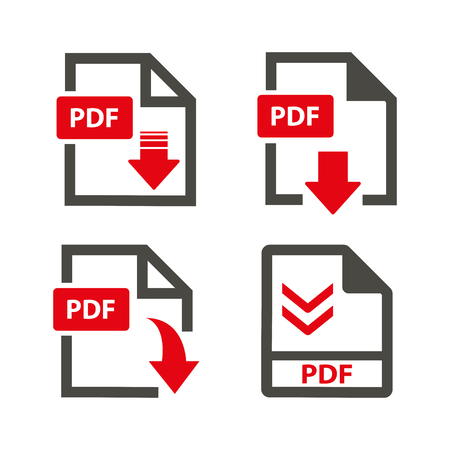 Vector download pdf  icon