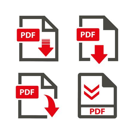 Vector download pdf  icon