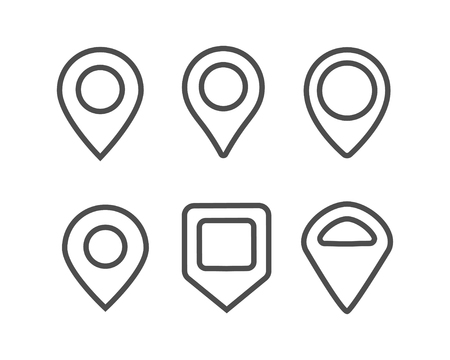 Pin location line icon vector illustration