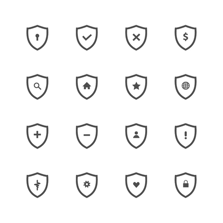 Shield icon. shield icons related for web set on white background