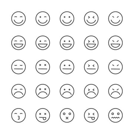 Collection emoticon icon.