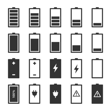 Batteriesymbole setzen Vektorbild