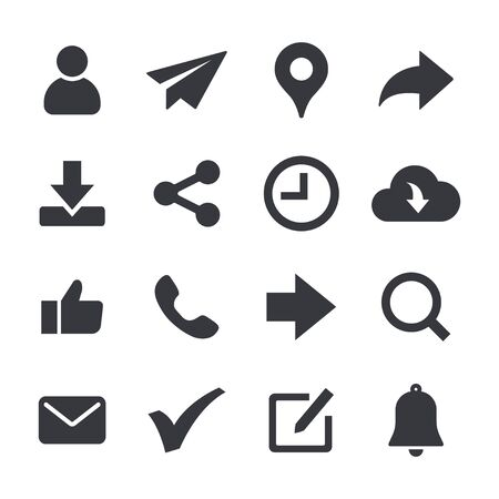 web icons set. general website icon related vector image