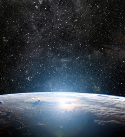 cosmos: Earth planet.  Stock Photo