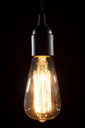 A classic Edison light bulb photo