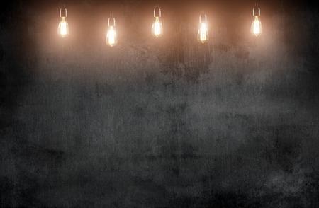 kamer met hanglampen en bord blackground