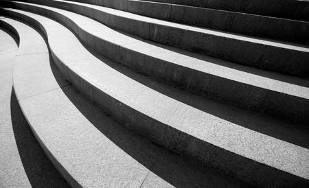 Hormigón: El diseño arquitectónico de escaleras Foto de archivo