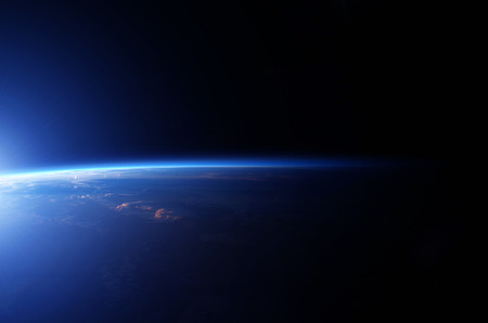 Planeet aarde vanuit de ruimte.