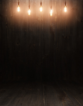 dark vintage brown wooden planks interior with  shadows