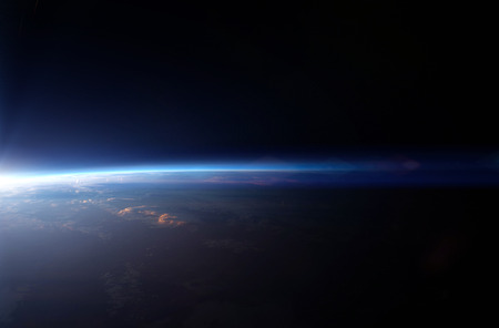 blue earth: Planet earth from the space.