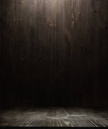 wood background: dark wooden background texture. Wood shelf grunge industrial interior
