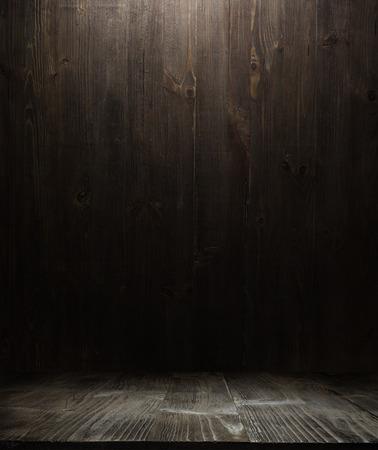 dřevěný: tmavé dřevěné pozadí texturu. Dřevěné police grunge průmyslové interiér