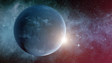 universum: Planet Erde aus dem Weltraum.