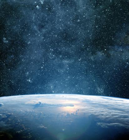 glowing earth: Earth planet.