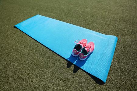 yoga mat: a yoga mat
