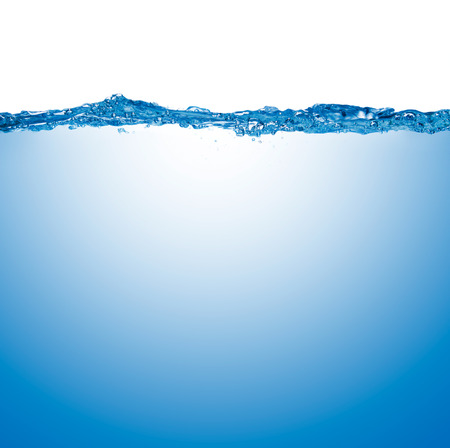 the surface of the water: water surface isolated on white background with bubbles