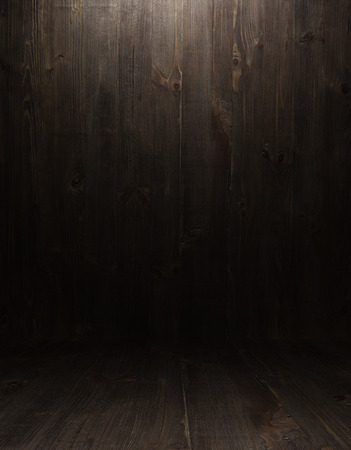 room wall: dark vintage brown wooden planks interior with  shadows