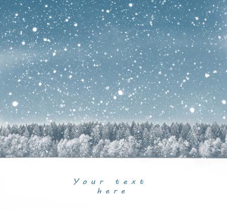 textures: Blue Christmas Hintergrund mit Bäumen und Schnee