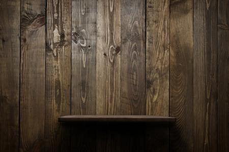 Wood shelf grunge industrial interior Stockfoto